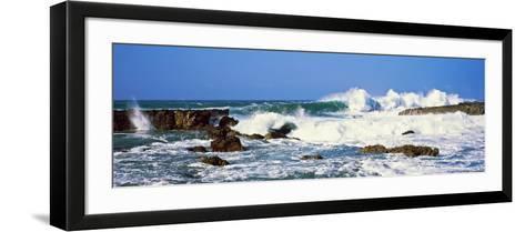 Waves Breaking at Rocks, Hawaii, USA--Framed Art Print