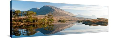 Lake at Dawn, Derryclare Lake, Connemara, County Galway, Ireland--Stretched Canvas Print