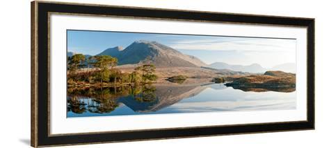 Lake at Dawn, Derryclare Lake, Connemara, County Galway, Ireland--Framed Art Print