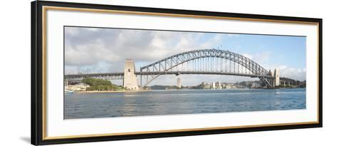View of Sydney Harbour Bridge from Sydney Opera House, Sydney, New South Wales, Australia--Framed Art Print