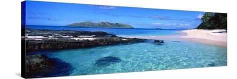 Island in the Sea, Veidomoni Beach, Mamanuca Islands, Fiji--Stretched Canvas Print