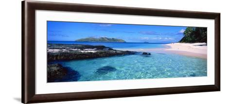 Island in the Sea, Veidomoni Beach, Mamanuca Islands, Fiji--Framed Art Print