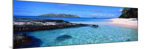 Island in the Sea, Veidomoni Beach, Mamanuca Islands, Fiji--Mounted Photographic Print