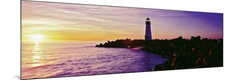 Lighthouse on the Coast at Dusk, Walton Lighthouse, Santa Cruz, California, USA--Mounted Photographic Print