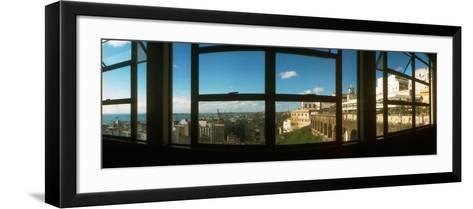 Buildings Viewed Through from a Window of Lacerda Elevator, Pelourinho, Salvador, Bahia, Brazil--Framed Art Print