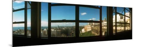 Buildings Viewed Through from a Window of Lacerda Elevator, Pelourinho, Salvador, Bahia, Brazil--Mounted Photographic Print