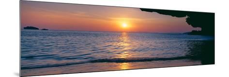 Sunset over the Sea, Railay Beach, Krabi, Krabi Province, Thailand--Mounted Photographic Print