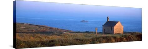 Chapel on the Coast, Saint-Samson Chapel, Portsall, Finistere, Brittany, France--Stretched Canvas Print