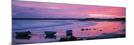 Boats on the Beach at Sunrise, Pors Carn, Finistere, Brittany, France--Mounted Photographic Print