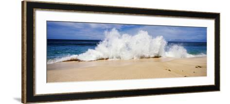 Breaking Waves on the Beach, Oahu, Hawaii, USA--Framed Art Print