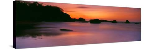 Sunset over the Sea, Goa, India--Stretched Canvas Print