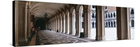Corridor at a Palace, Doge's Palace, Venice, Veneto, Italy--Stretched Canvas Print