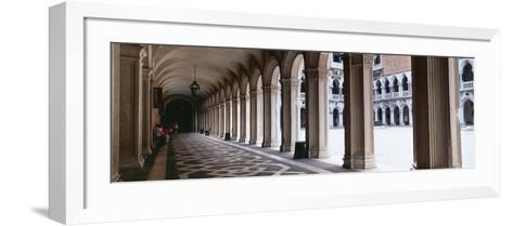 Corridor at a Palace, Doge's Palace, Venice, Veneto, Italy--Framed Art Print