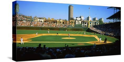 Spectators in a Stadium, Wrigley Field, Chicago Cubs, Chicago, Cook County, Illinois, USA--Stretched Canvas Print
