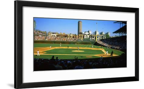 Spectators in a Stadium, Wrigley Field, Chicago Cubs, Chicago, Cook County, Illinois, USA--Framed Art Print