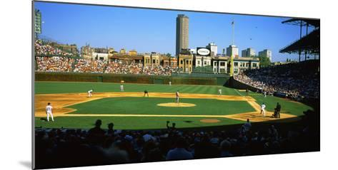 Spectators in a Stadium, Wrigley Field, Chicago Cubs, Chicago, Cook County, Illinois, USA--Mounted Photographic Print