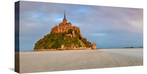 Cathedral on an Island, Mont Saint-Michel, Manche, Basse-Normandy, France--Stretched Canvas Print