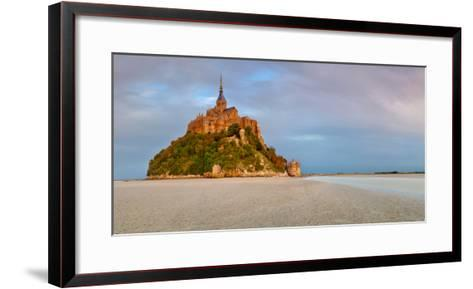 Cathedral on an Island, Mont Saint-Michel, Manche, Basse-Normandy, France--Framed Art Print