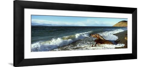 Log on the Beach, Ebey's Landing National Historical Reserve, Whidbey Island, Island County--Framed Art Print