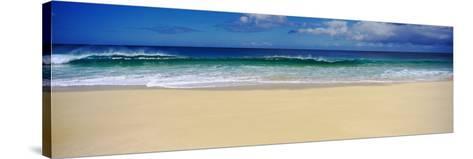 Surf on the Beach, Oahu, Hawaii, USA--Stretched Canvas Print