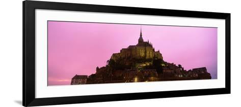 Cathedral on an Island, Mont Saint-Michel, Normandy, France--Framed Art Print
