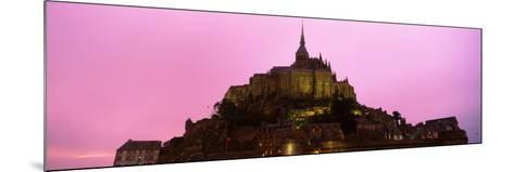 Cathedral on an Island, Mont Saint-Michel, Normandy, France--Mounted Photographic Print
