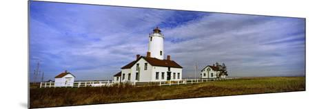 Lighthouse on a Landscape, Dungeness Lighthouse, Dungeness Spit, Olympic Peninsula--Mounted Photographic Print