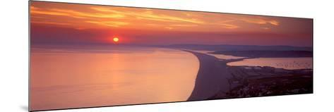 Chesil Beach at Sunset, Portland, Dorset, England--Mounted Photographic Print