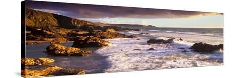 Rocks on the Beach, Whitsand Bay, Cornwall, England--Stretched Canvas Print