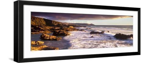 Rocks on the Beach, Whitsand Bay, Cornwall, England--Framed Art Print