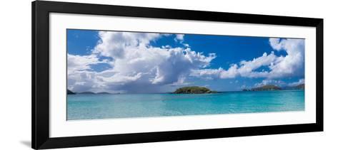 Clouds over the Sea, Cinnamon Bay, St. John, Us Virgin Islands--Framed Art Print