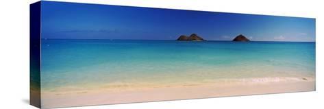 Islands in the Pacific Ocean, Lanikai Beach, Mokulua Islands, Oahu, Hawaii, USA--Stretched Canvas Print