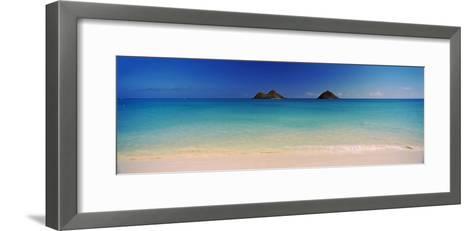 Islands in the Pacific Ocean, Lanikai Beach, Mokulua Islands, Oahu, Hawaii, USA--Framed Art Print