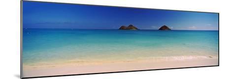 Islands in the Pacific Ocean, Lanikai Beach, Mokulua Islands, Oahu, Hawaii, USA--Mounted Photographic Print