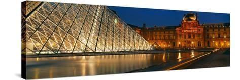 Pyramid at a Museum, Louvre Pyramid, Musee Du Louvre, Paris, France--Stretched Canvas Print