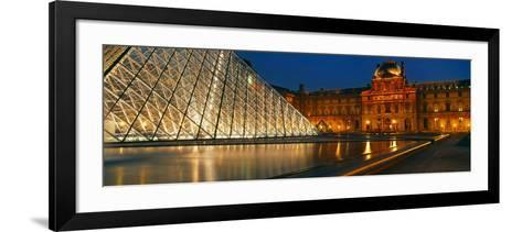 Pyramid at a Museum, Louvre Pyramid, Musee Du Louvre, Paris, France--Framed Art Print