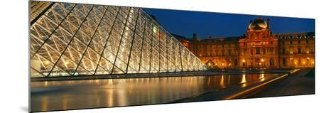Pyramid at a Museum, Louvre Pyramid, Musee Du Louvre, Paris, France--Mounted Photographic Print