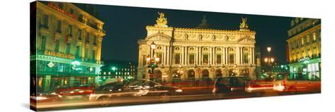 Facade of an Opera House, Palais Garnier, Paris, France--Stretched Canvas Print