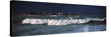 Breakers in Saint-Guenole, Finistere, Brittany, France--Stretched Canvas Print