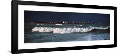 Breakers in Saint-Guenole, Finistere, Brittany, France--Framed Art Print