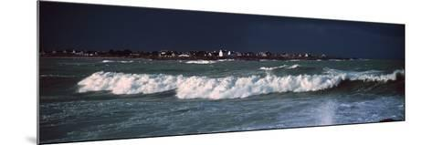 Breakers in Saint-Guenole, Finistere, Brittany, France--Mounted Photographic Print