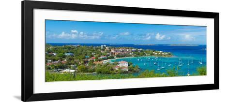 Boats at a Harbor, Cruz Bay, St. John, Us Virgin Islands--Framed Art Print