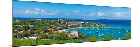 Boats at a Harbor, Cruz Bay, St. John, Us Virgin Islands--Mounted Photographic Print