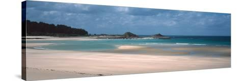 Beach of Sables-D'Or-Les-Pins Near Cap Frehel, Cotes-D'Armor, Brittany, France--Stretched Canvas Print