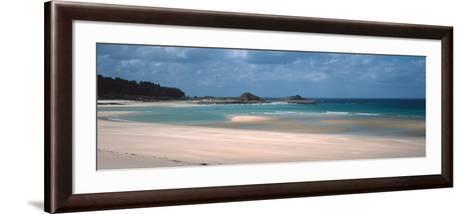 Beach of Sables-D'Or-Les-Pins Near Cap Frehel, Cotes-D'Armor, Brittany, France--Framed Art Print