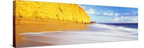 Cliff on the Beach, Burton Bradstock, Dorset, England--Stretched Canvas Print