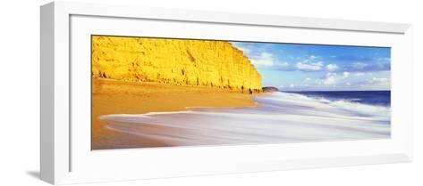 Cliff on the Beach, Burton Bradstock, Dorset, England--Framed Art Print