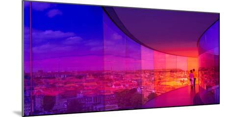View of a City from the Translucent Walkway of a Museum, Aros Aarhus Kunstmuseum, Aarhus, Denmark--Mounted Photographic Print