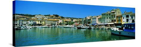 Boats Docked at a Harbor, Cassis, Provence-Alpes-Cote D'Azur, France--Stretched Canvas Print