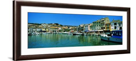 Boats Docked at a Harbor, Cassis, Provence-Alpes-Cote D'Azur, France--Framed Art Print